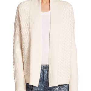 Tory Burch mixed cable knit cardigan size M
